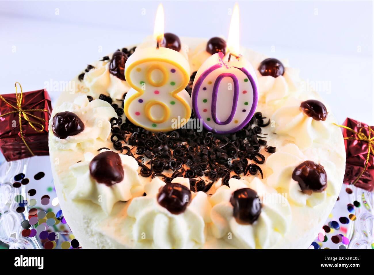 80th Birthday Cake Stock Photos 80th Birthday Cake Stock Images