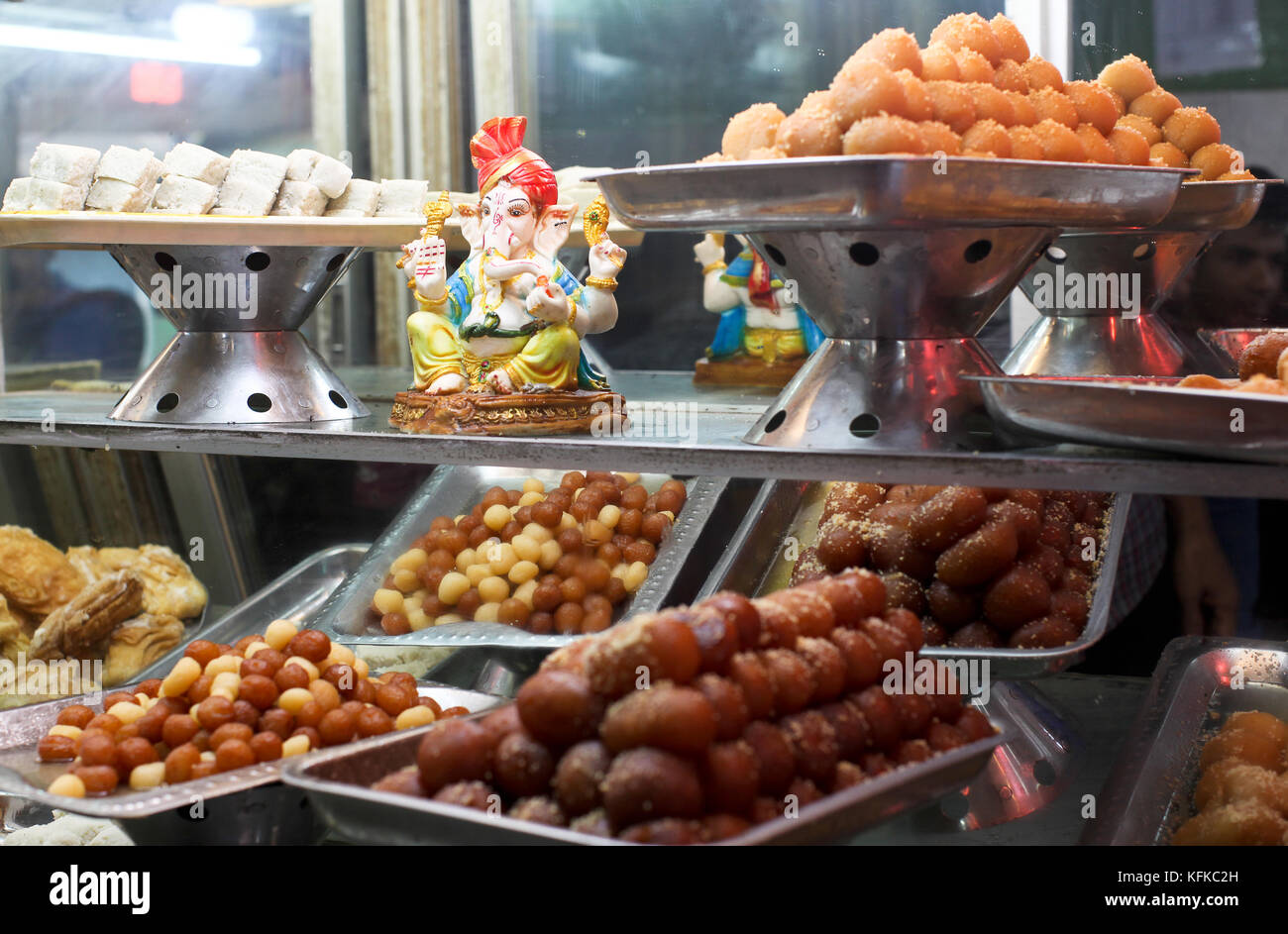 Window of homemade sweet shop in Kurigram, Bangladesh - Stock Image