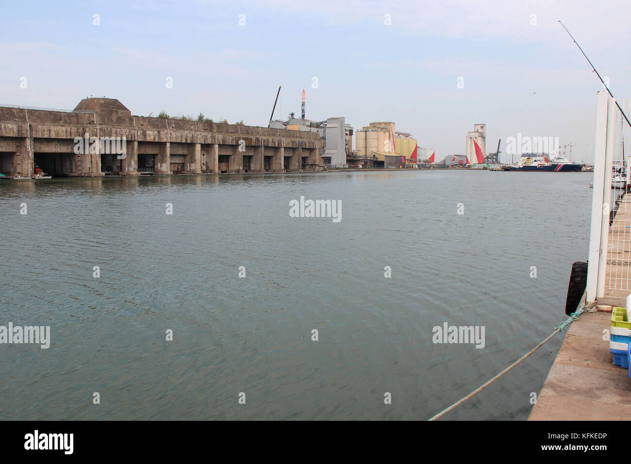 Submarine Base And Port In Saint Nazaire France Stock Photo