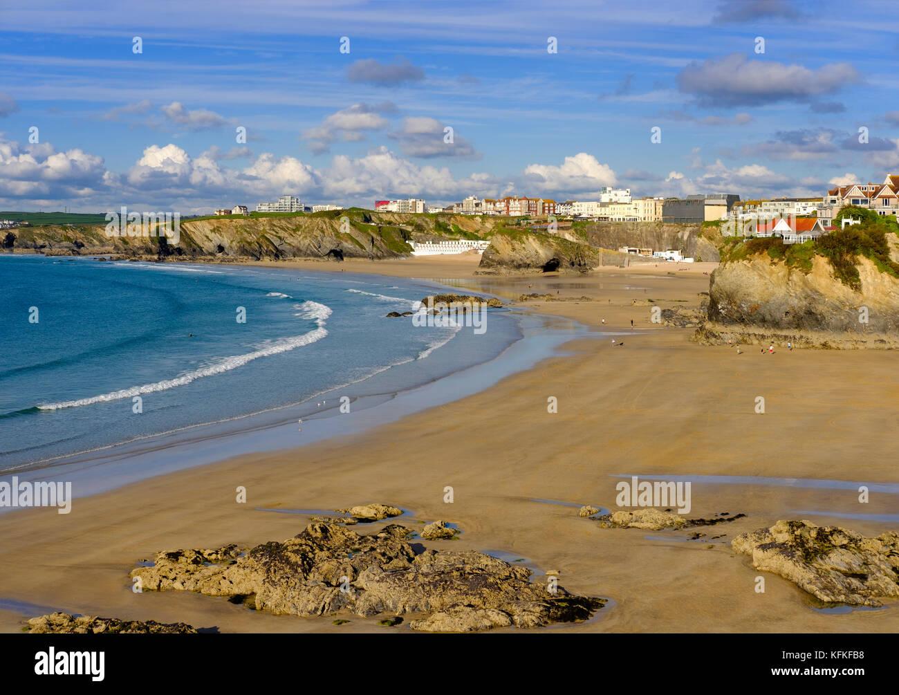 Towan Beach, Newquay, Cornwall, England, Great Britain - Stock Image