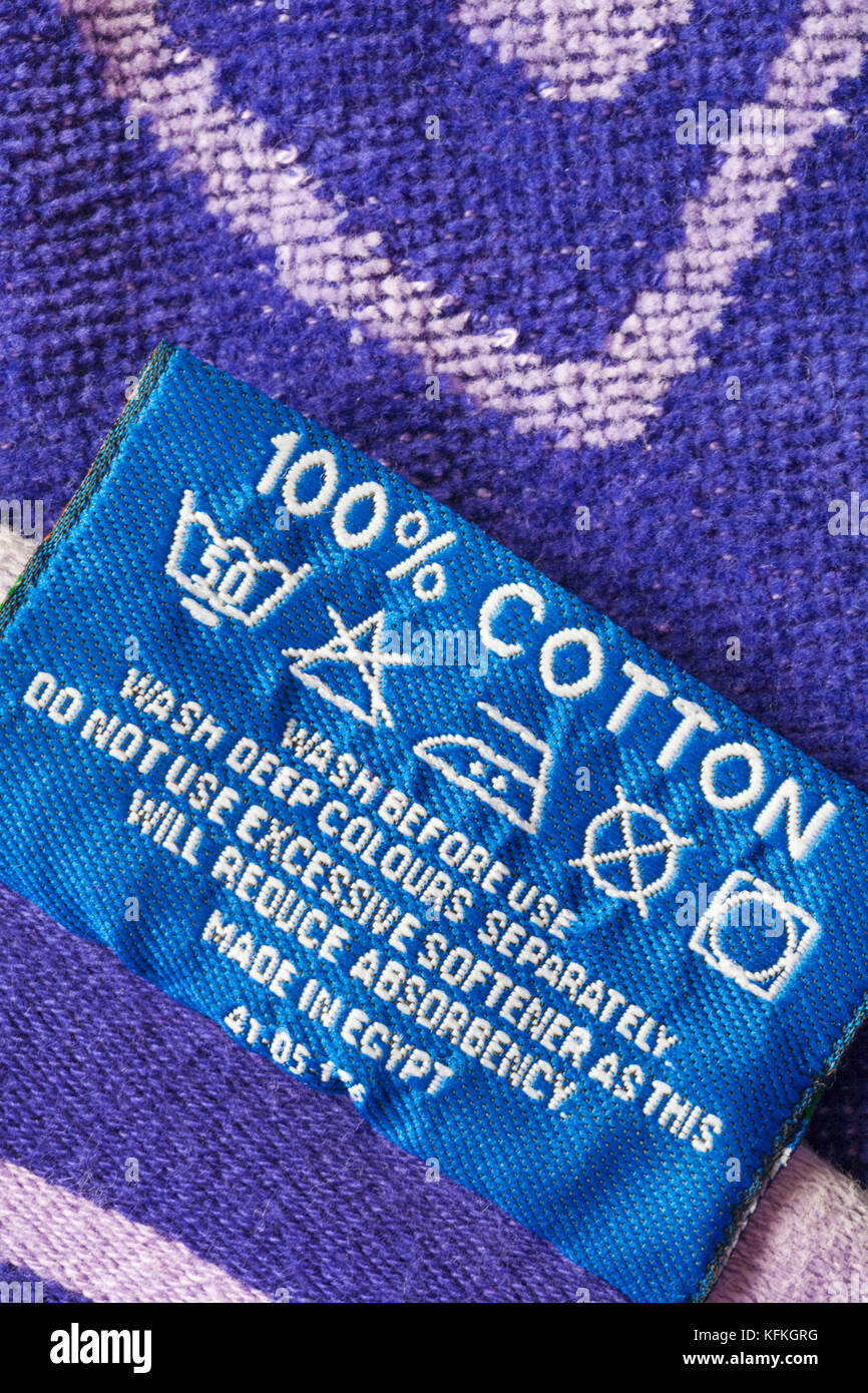 100 cotton washing instructions