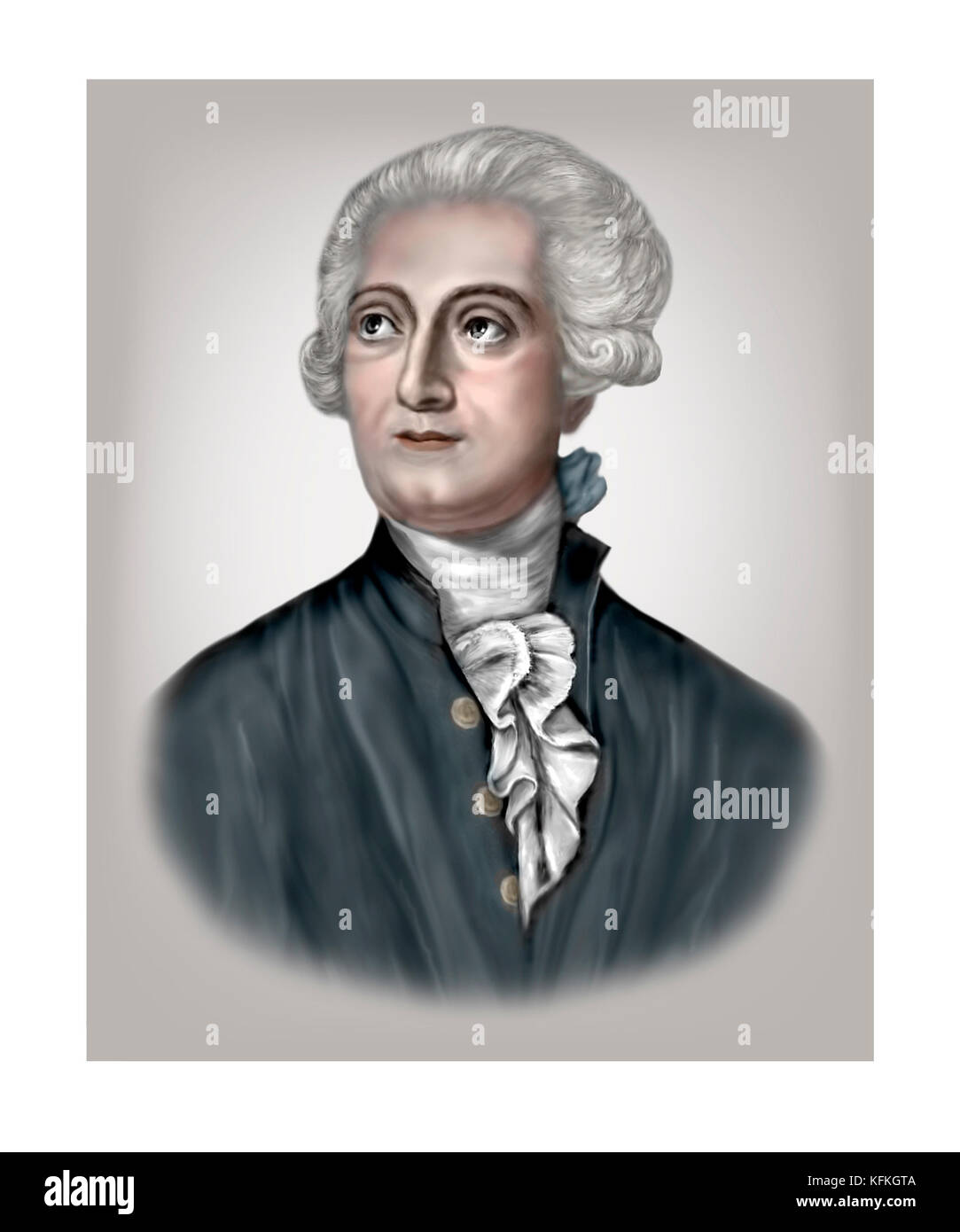Antoine Lavoisier, 1743 - 1794, French Chemist - Stock Image