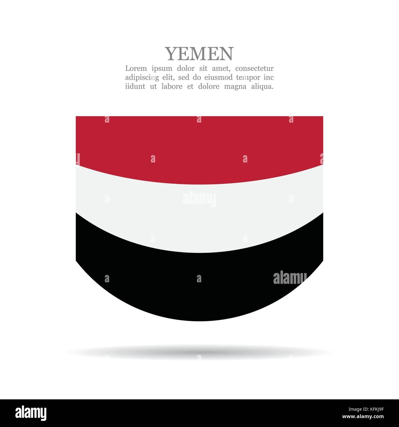 Yemen national flag vector icon - Stock Image