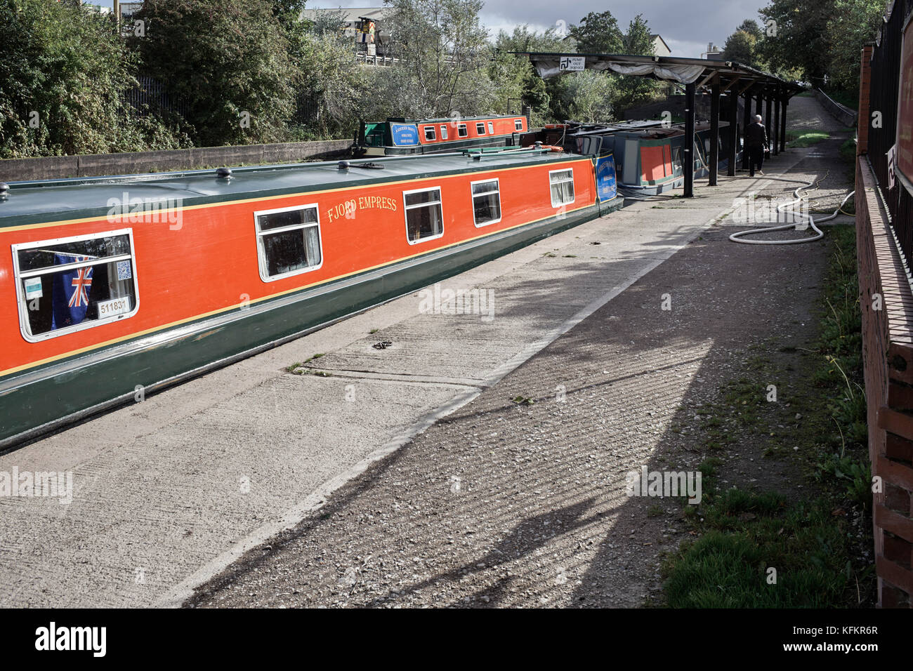 Andersen Boats being prepared at Middlewich - Stock Image