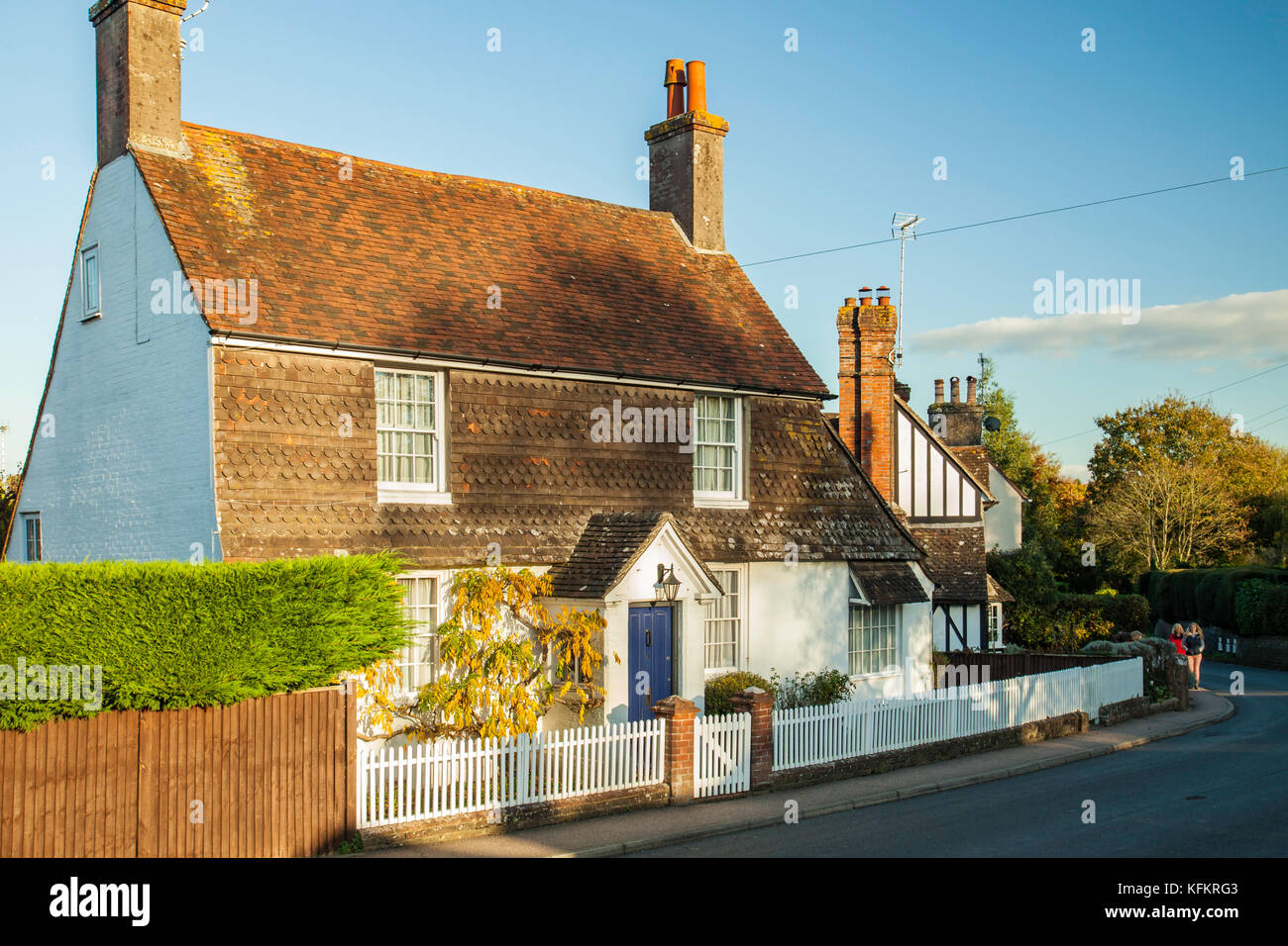 Picturesque cottage in Hurstpierpoint, West Sussex, England. - Stock Image