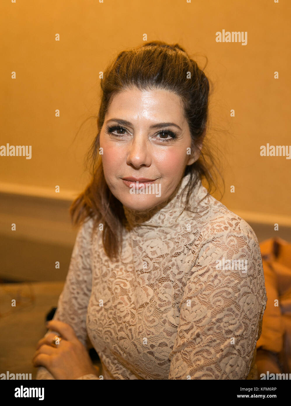 New York, USA. 30th Oct, 2017. Marisa Tomei attends appears at the 'Make Equality Reality' honors Gucci - Stock Image