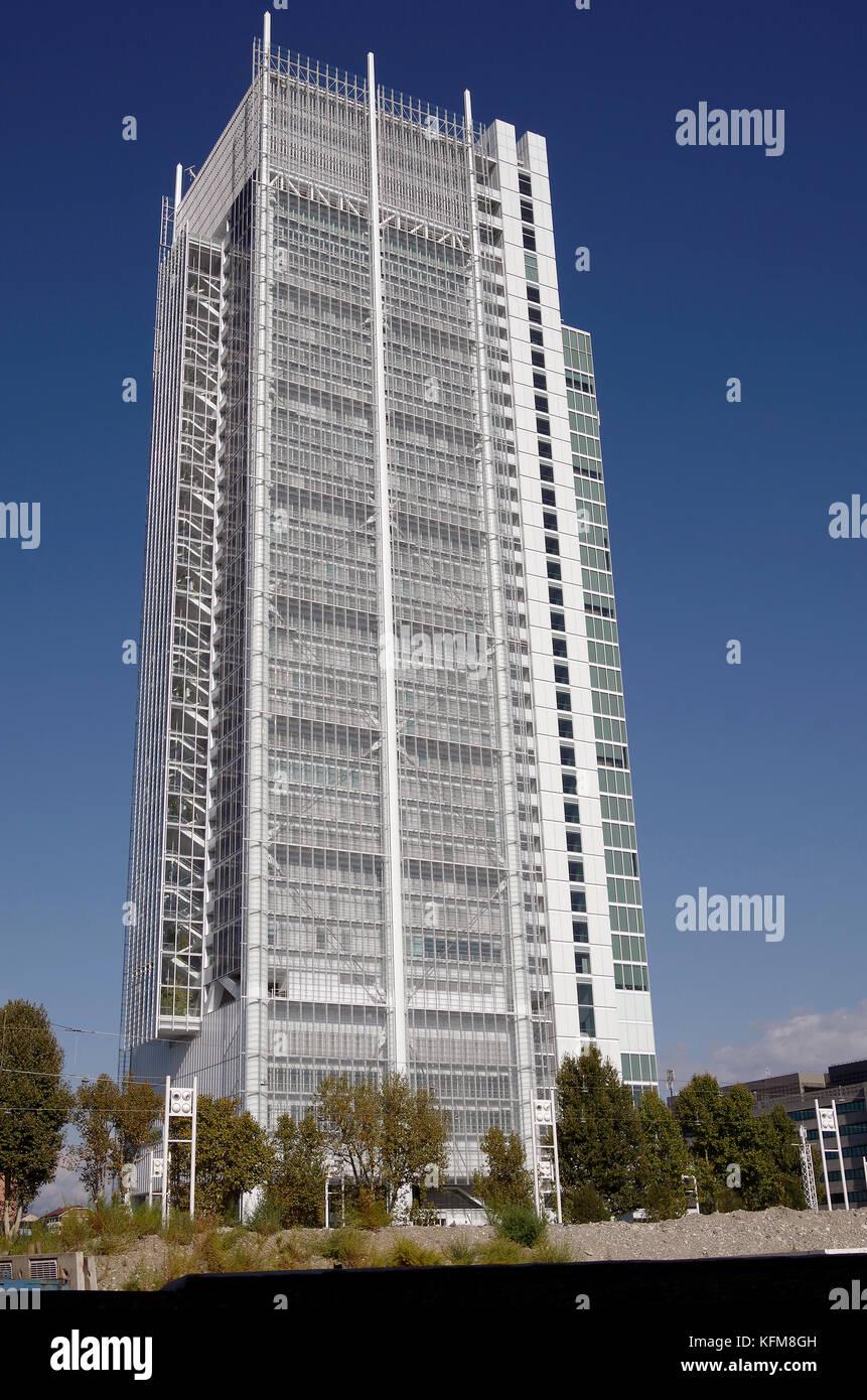 Grattacielo Intesa Sanpaolo, Skyscraper, Turin, Torino, Italy, Renzo Piano, architect - Stock Image