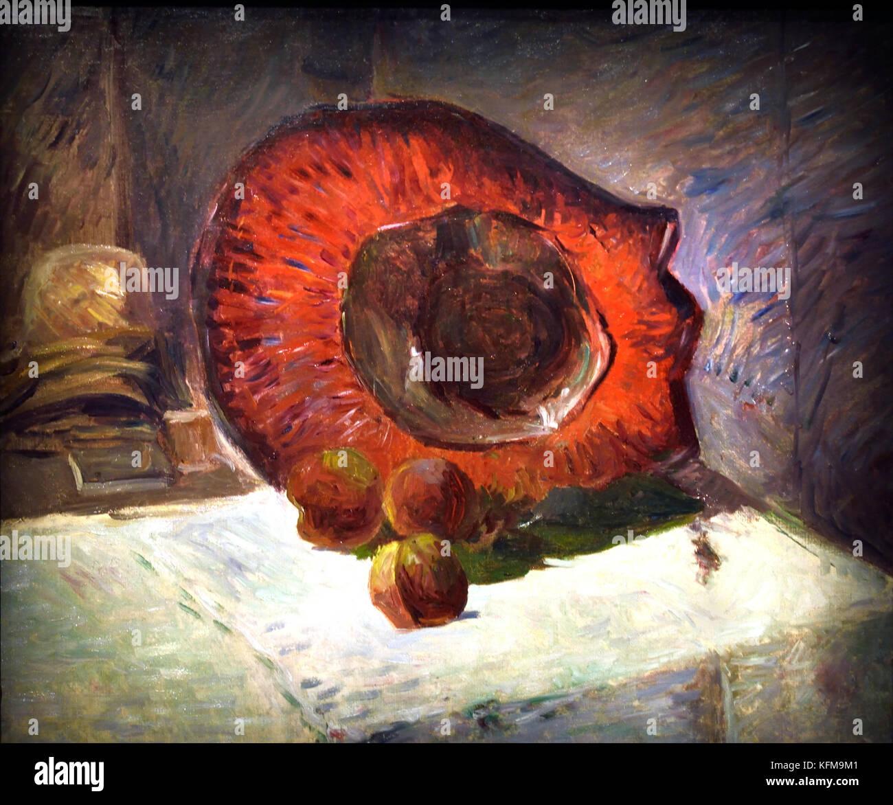 Le Chapeau Rouge - The Red Hat 1886  Paul Gauguin - Eugène Henri Paul Gauguin 1848 – 1903 was a French post - Stock Image