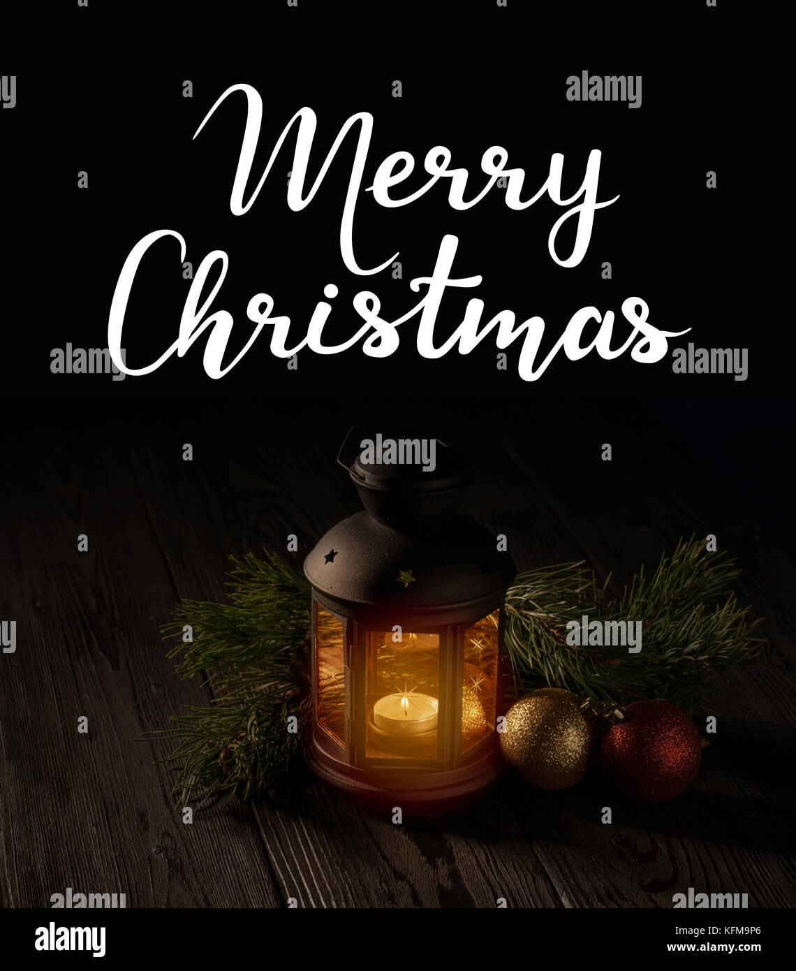 Christmas decoration on a table - Stock Image