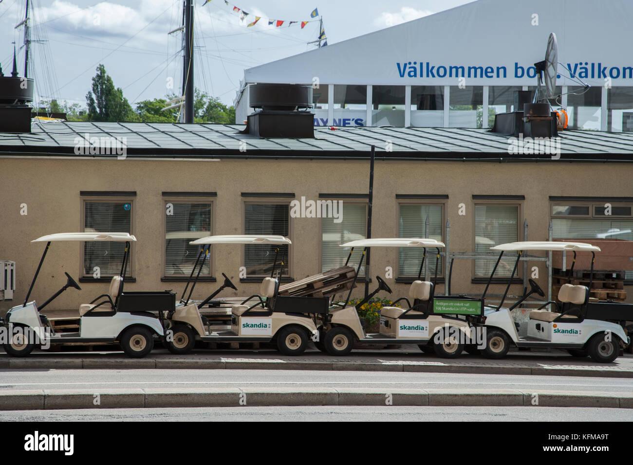 Golfbilar / Golf carts - Stock Image