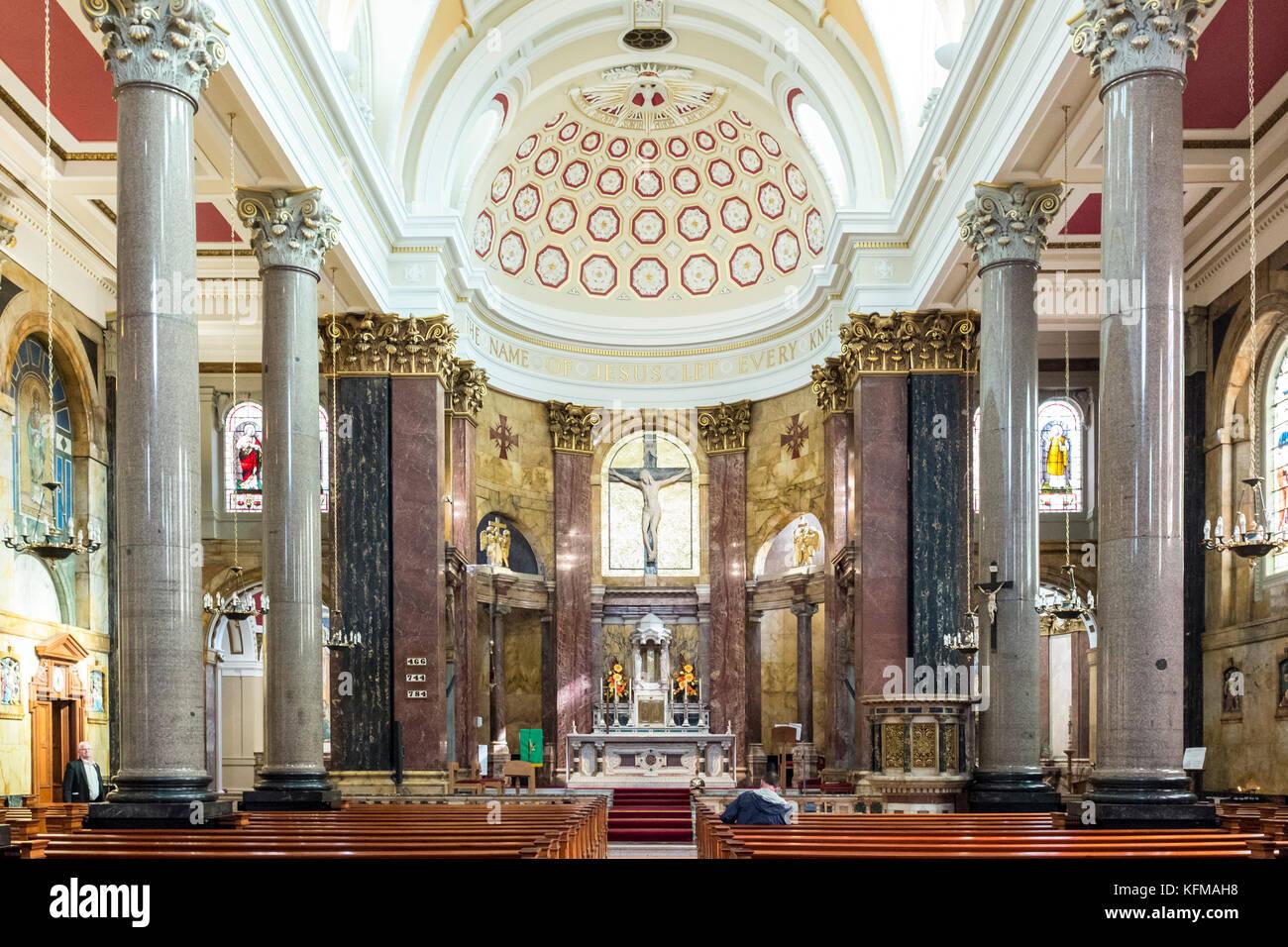 Interior of  St Wilfrid's Roman Catholic Church, Preston, Lancashire Chapel St, Preston - Stock Image