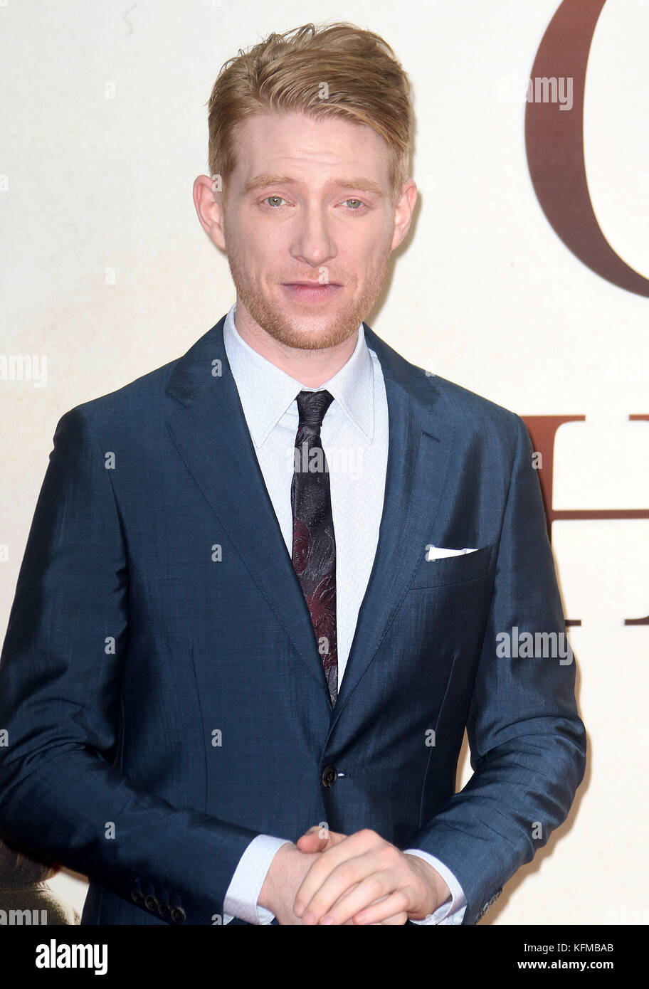 Sep 20, 2017 - Domhnall Gleeson attending 'Goodbye Christopher Robin' World Premiere, Leicester Square in - Stock Image
