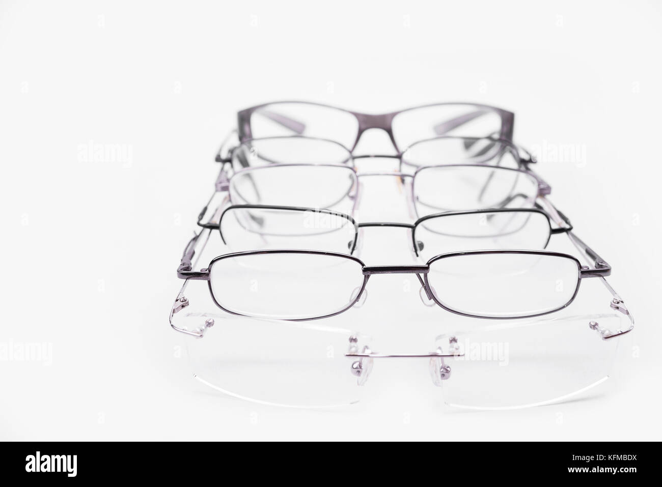 a3bc9bff23 Metal and rimless frames for dioptrical glasses or sunglasses Stock ...