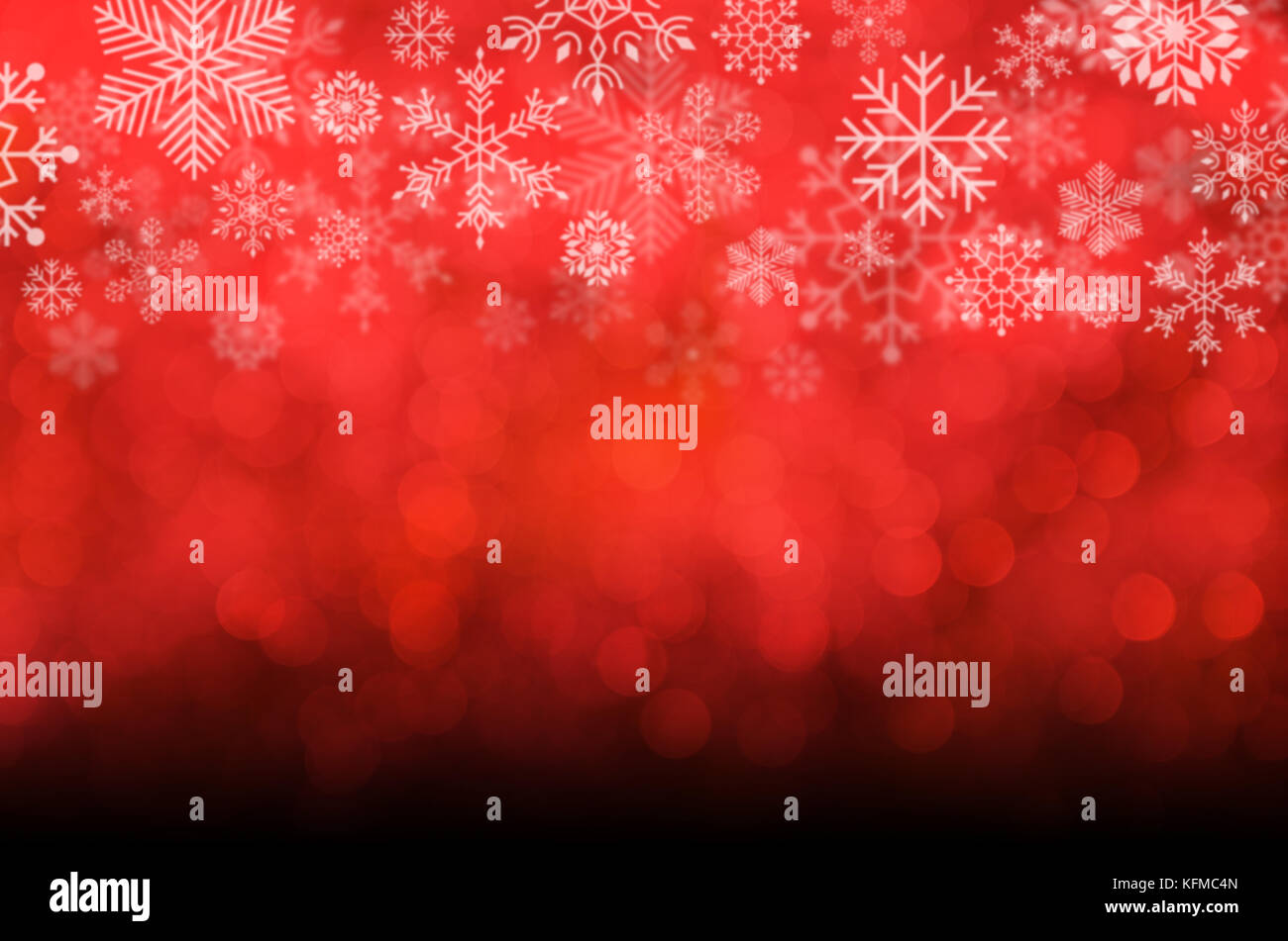 christmas and new year theme background red blurred abstract background with snowflake