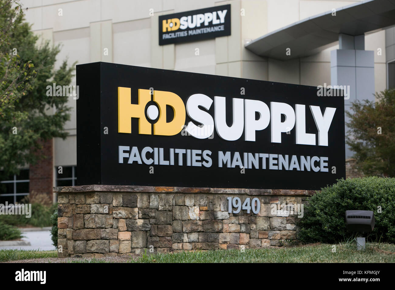 A logo sign outside of a facility occupied by HD Supply Facilities Maintenance in Marietta, Georgia on October 7, - Stock Image