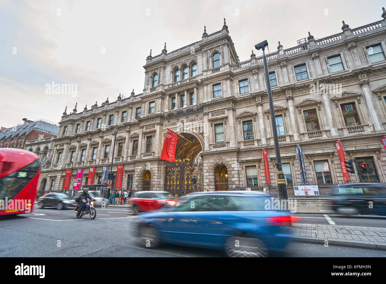 The Royal Academy Picadilly - Stock Image