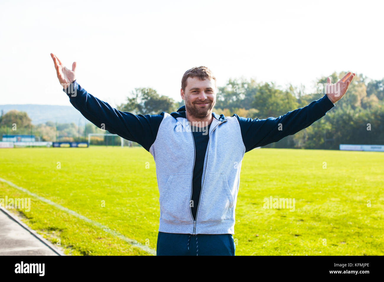 Portrait of sportsman - Stock Image