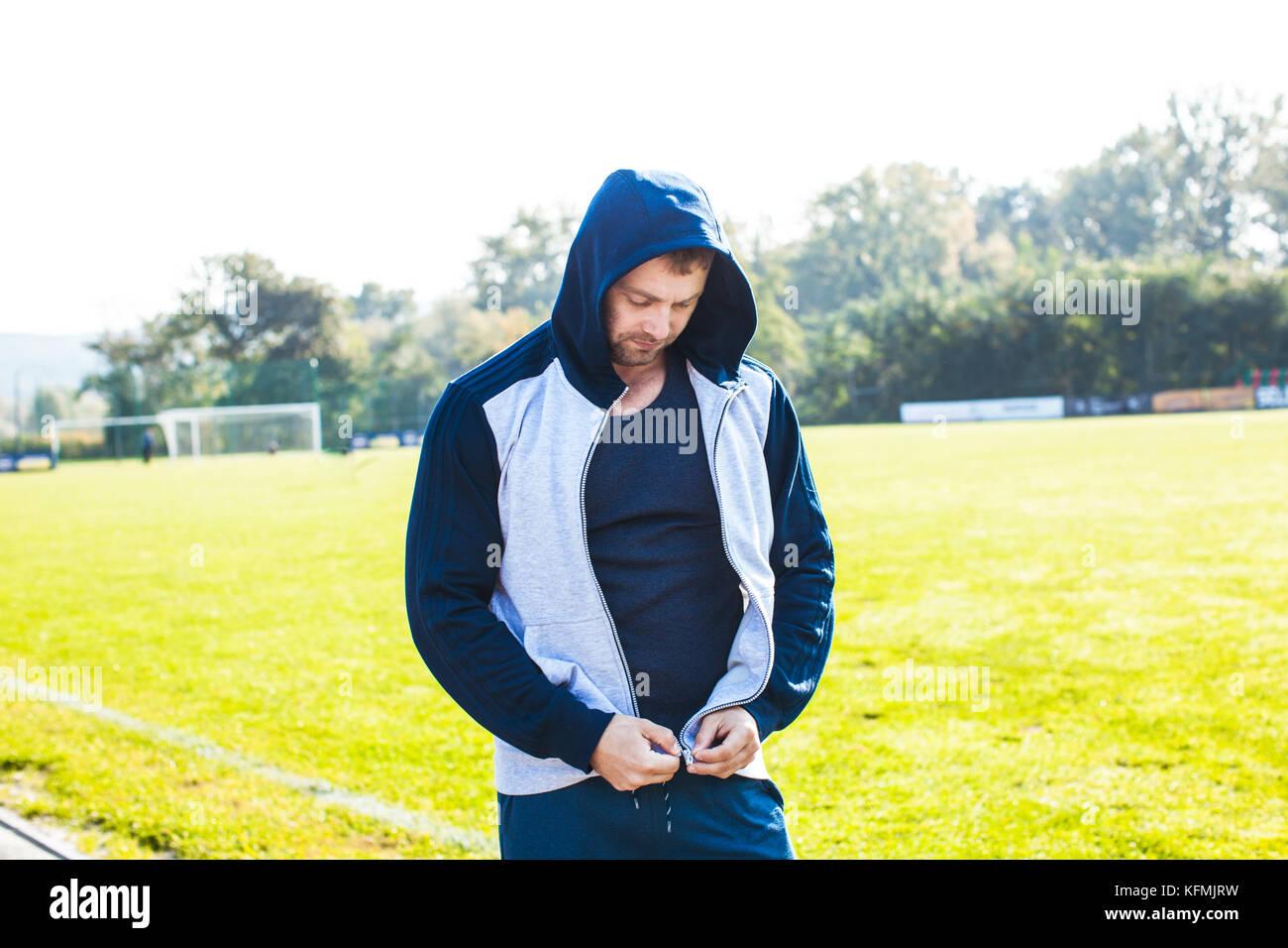 Portrait of sportsman Stock Photo