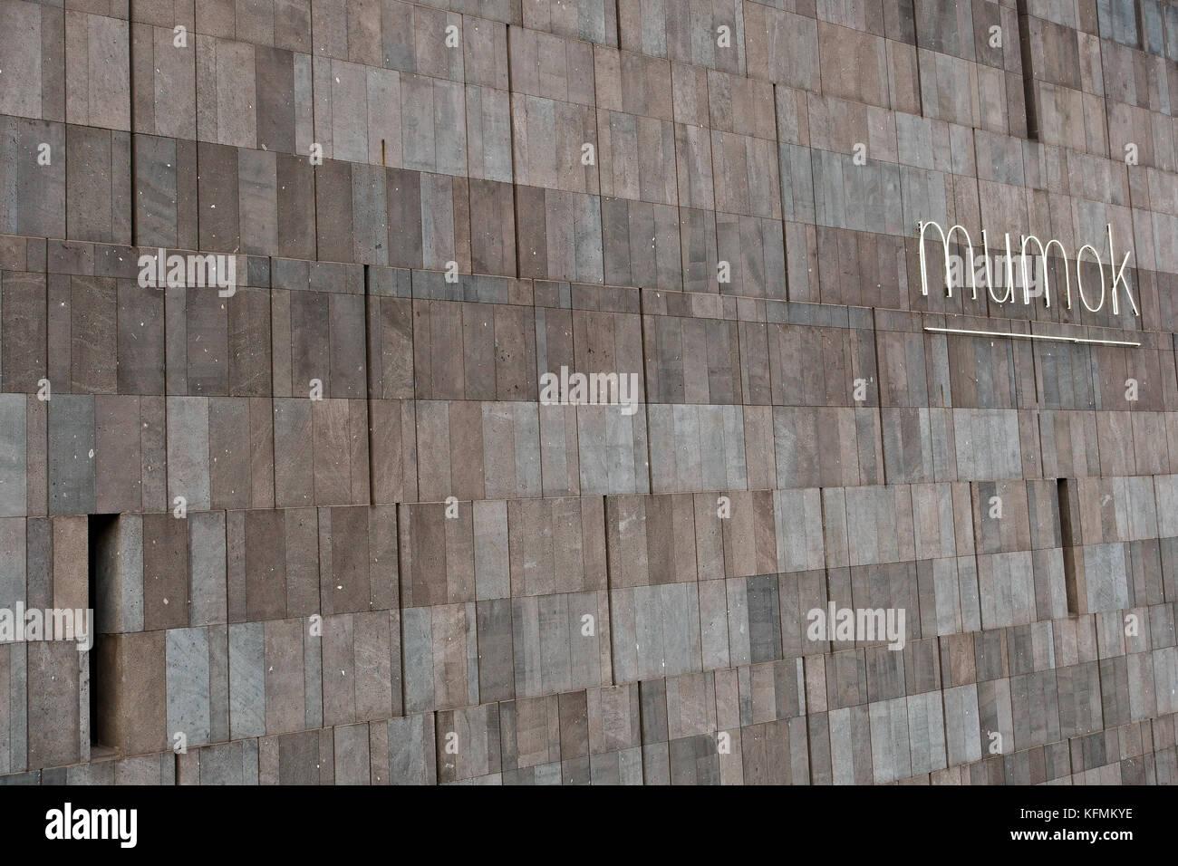 MUMOK, MUseum MOderner Kunst, (Museum of Modern Art). MuseumsQuartier Vienna, Wien, Austria, Europe. Architectural - Stock Image