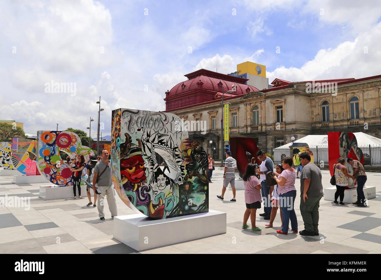 Plaza de la Cultura, Avenida Central, San José, San José province, Central Highlands, Costa Rica, Central - Stock Image