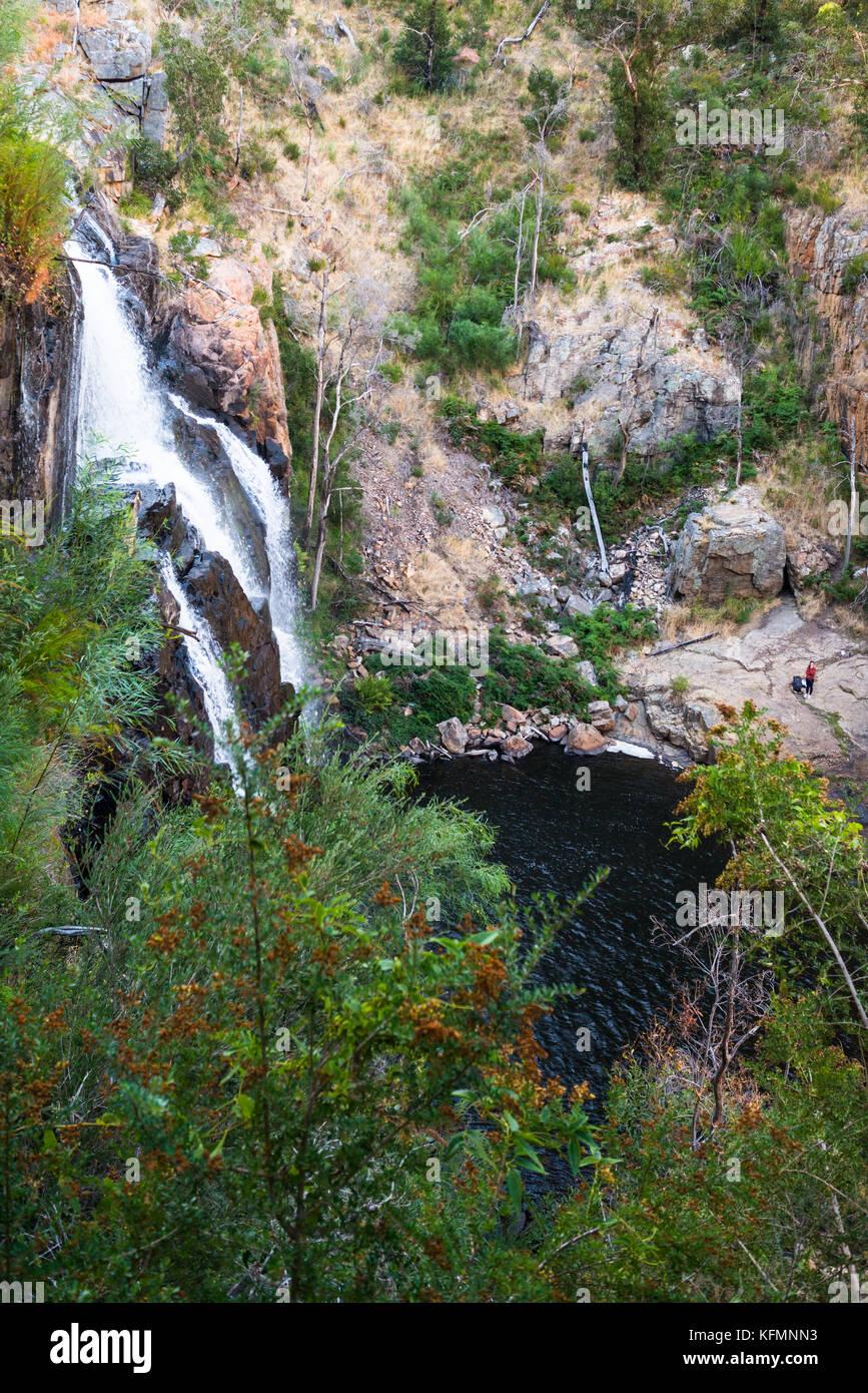 Mackenzie Falls looking down, Grampian National Park, Victoria, Australia. - Stock Image