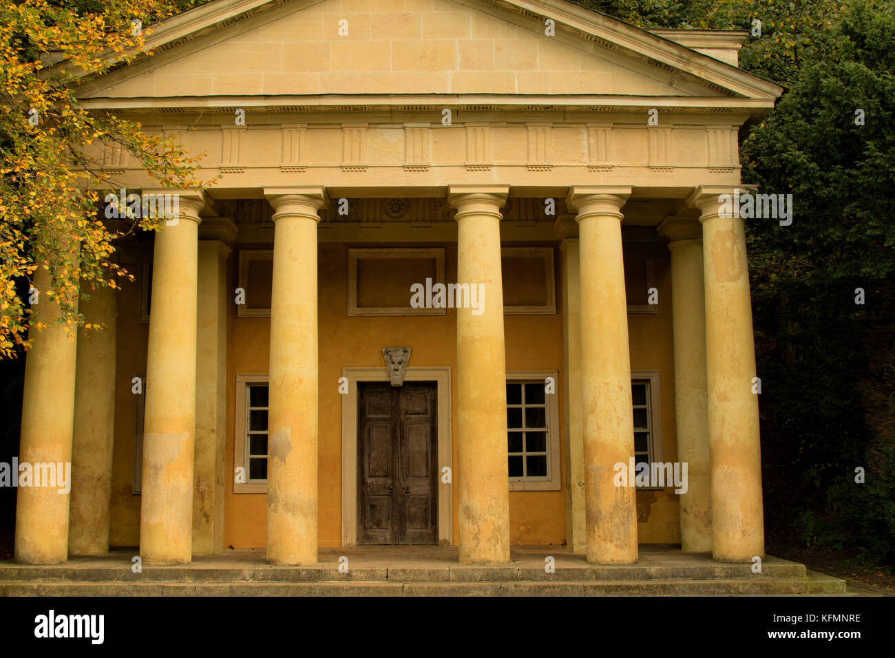 Temple of Piety at Studley Royal Water Garden,Ripon,North Yorkshire,England,UK. - Stock Image