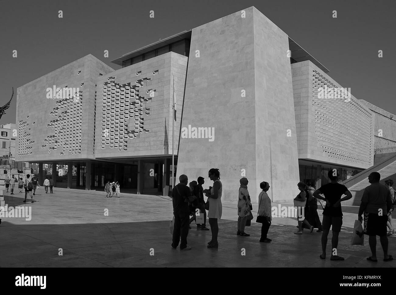 Valletta Parliament Building Stock Photo