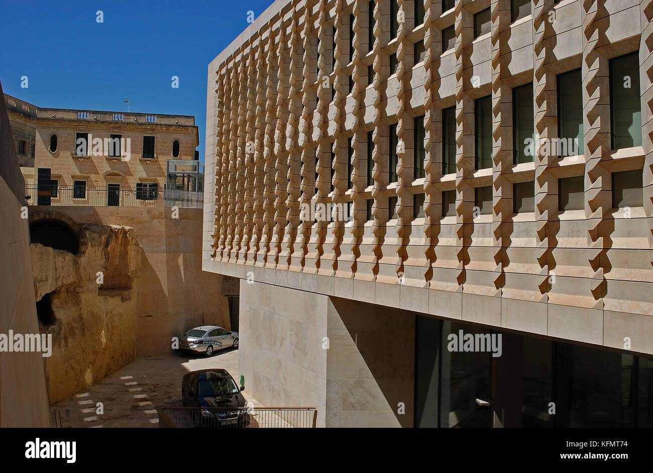Valletta Parliament Building Stock Photo
