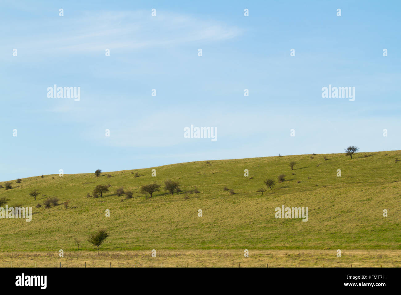 A pleasant view of the Ivinghoe Hills which make up part of the Chiterns. - Stock Image