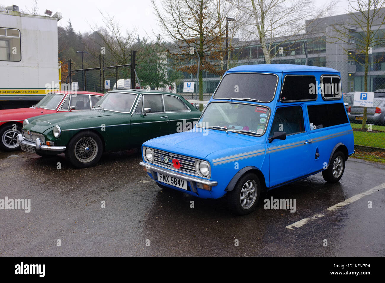 A classic mini modified to accommodate a wheelchair - Stock Image