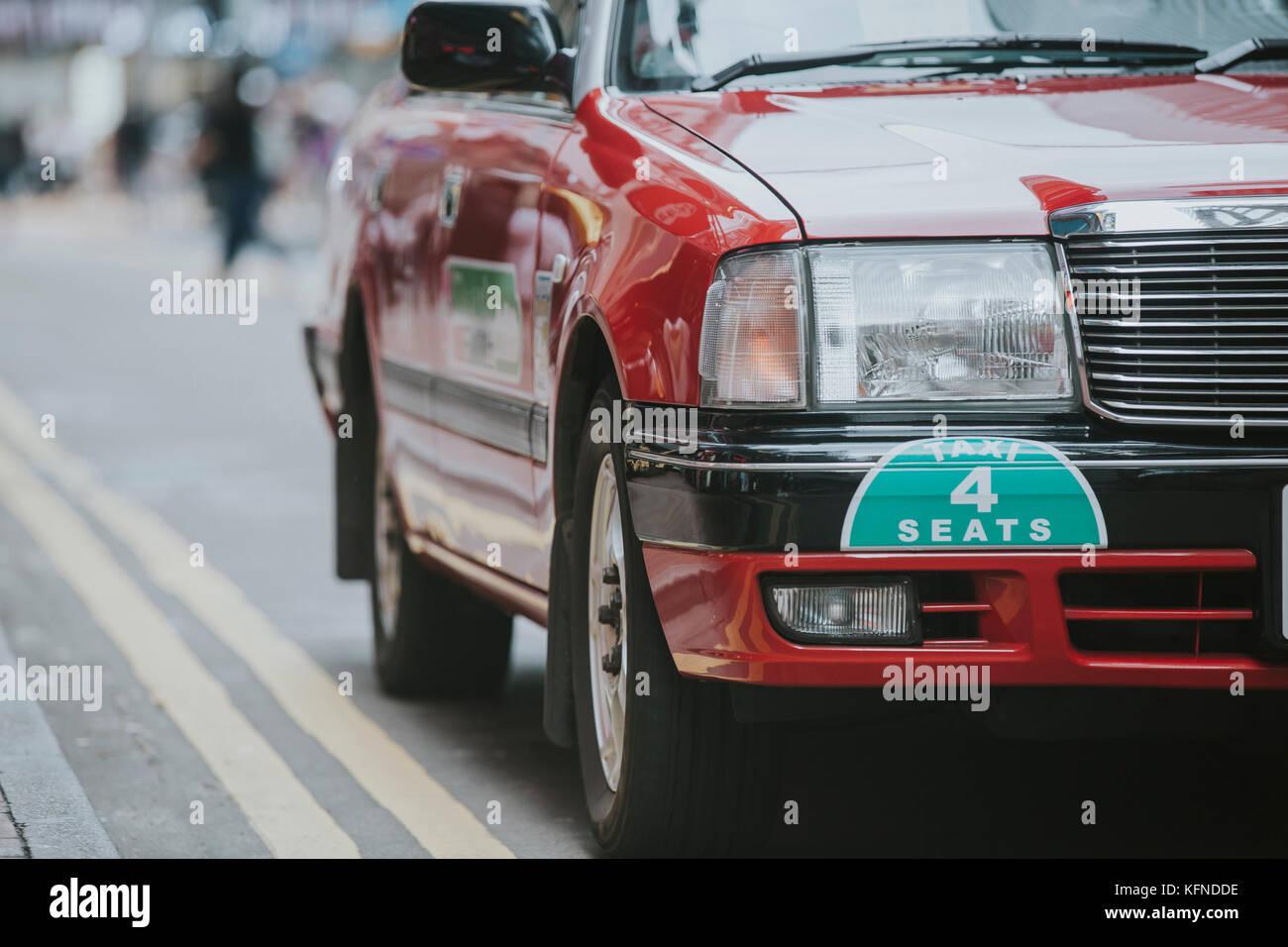 Hong Kong Taxi - Stock Image