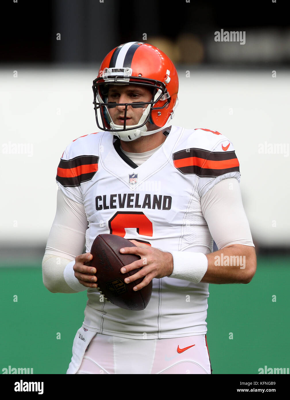new concept aeaeb 23c4f Cleveland Browns' quarterback Cody Kessler during warm-up ...