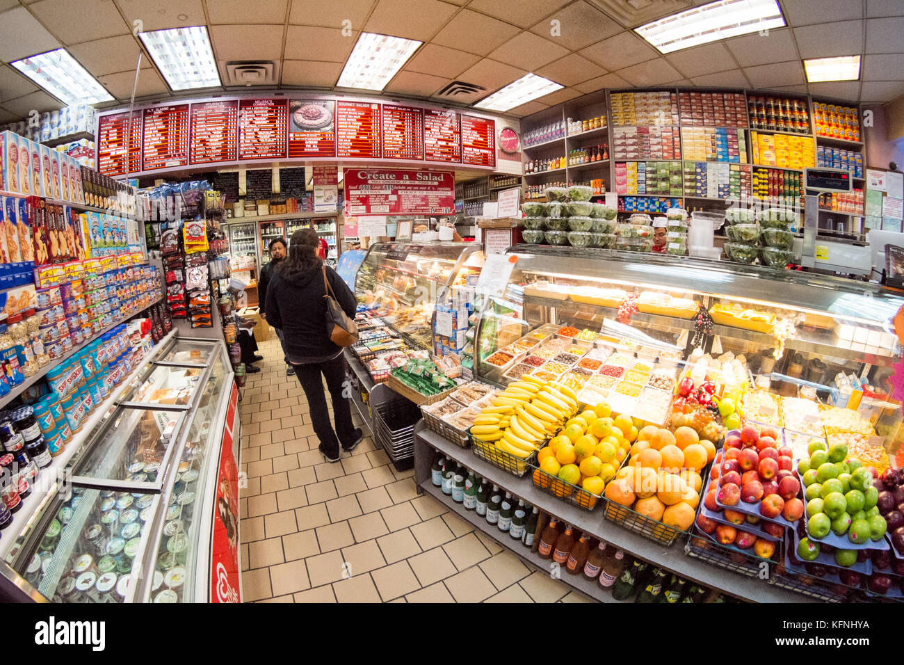 Melissa's gourmet deli 62 W 62nd St, New York, United states of America. - Stock Image