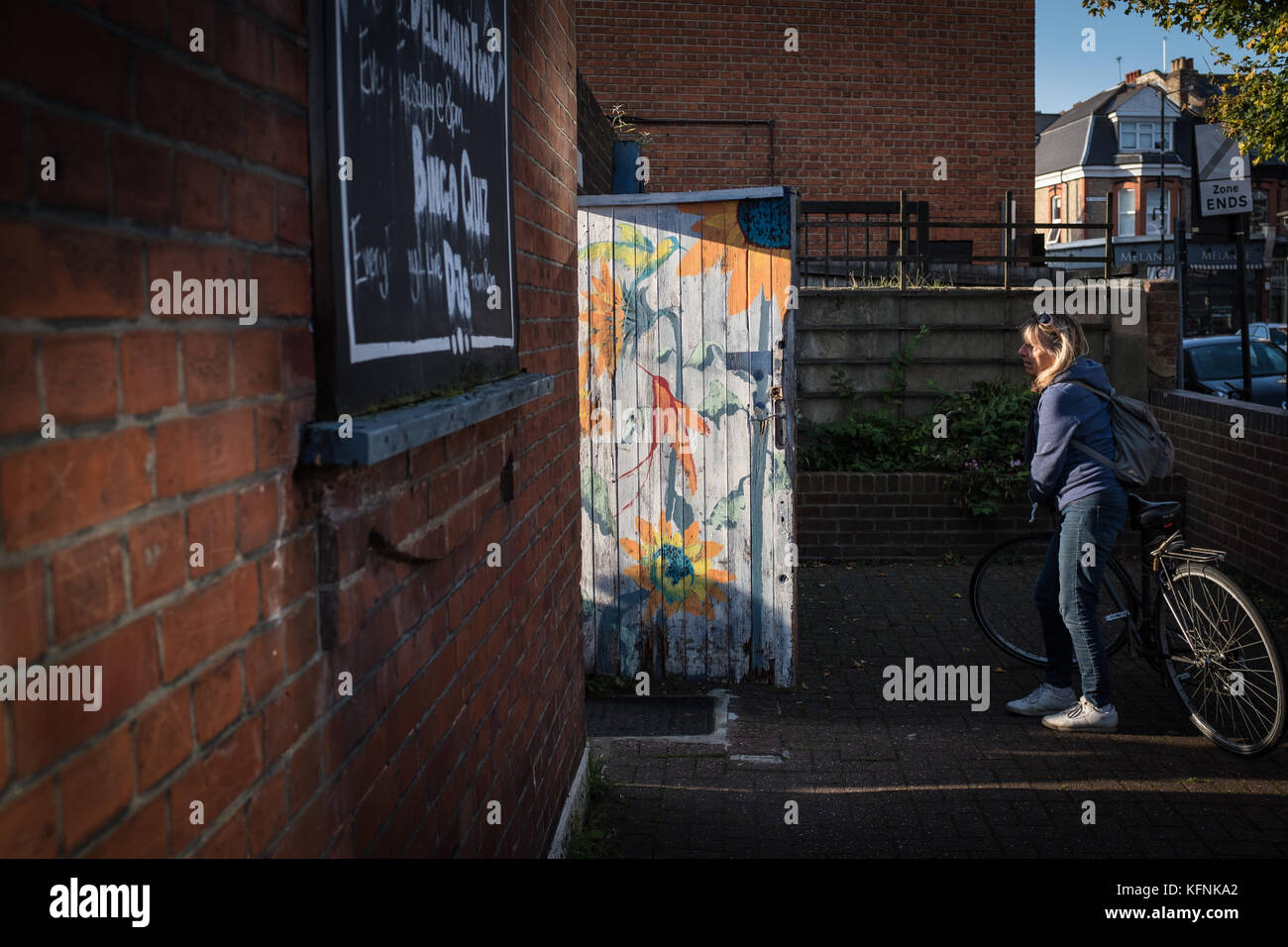 Looking through the door - Stock Image