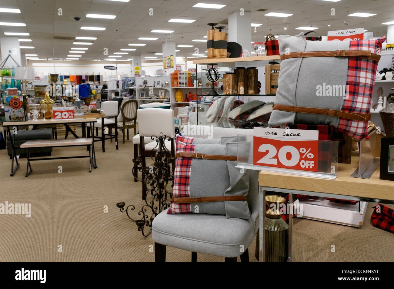 Home Decor Items On Sale During Closing Out Sale 2017 Inside Sears Canada  Department Store In Capilano Mall, North Vancouver, BC, Canada