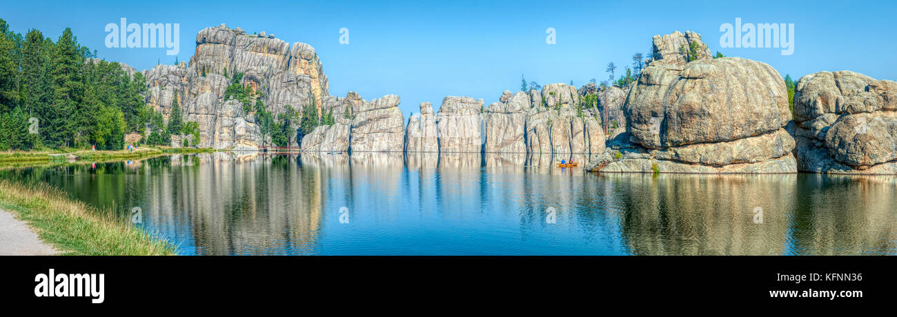 Sylvan Lake in the Black Hills of South Dakota - Stock Image