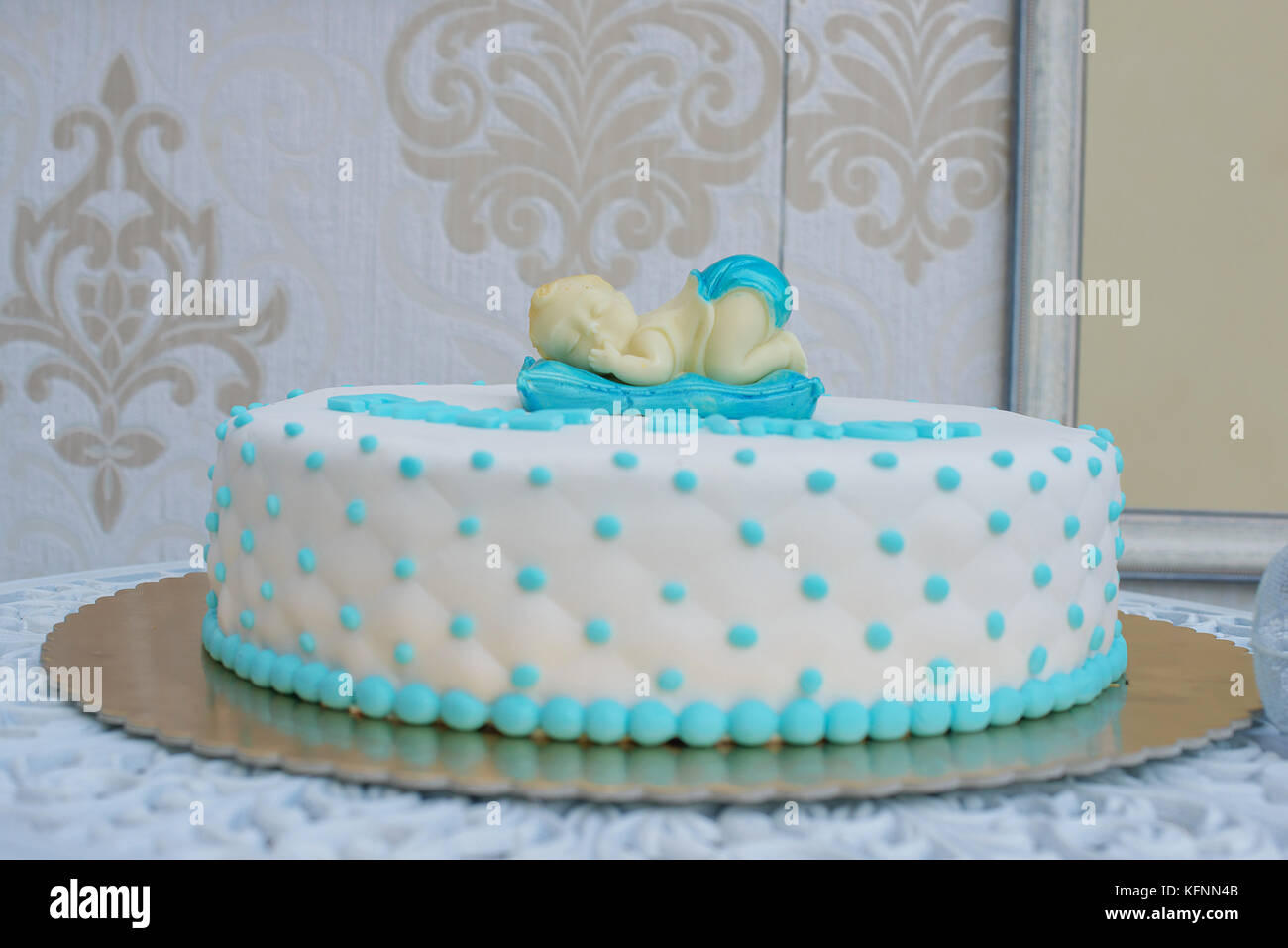 Fine Custom Made Baby Shower Or First Birthday Cake For A Boy With Funny Birthday Cards Online Amentibdeldamsfinfo