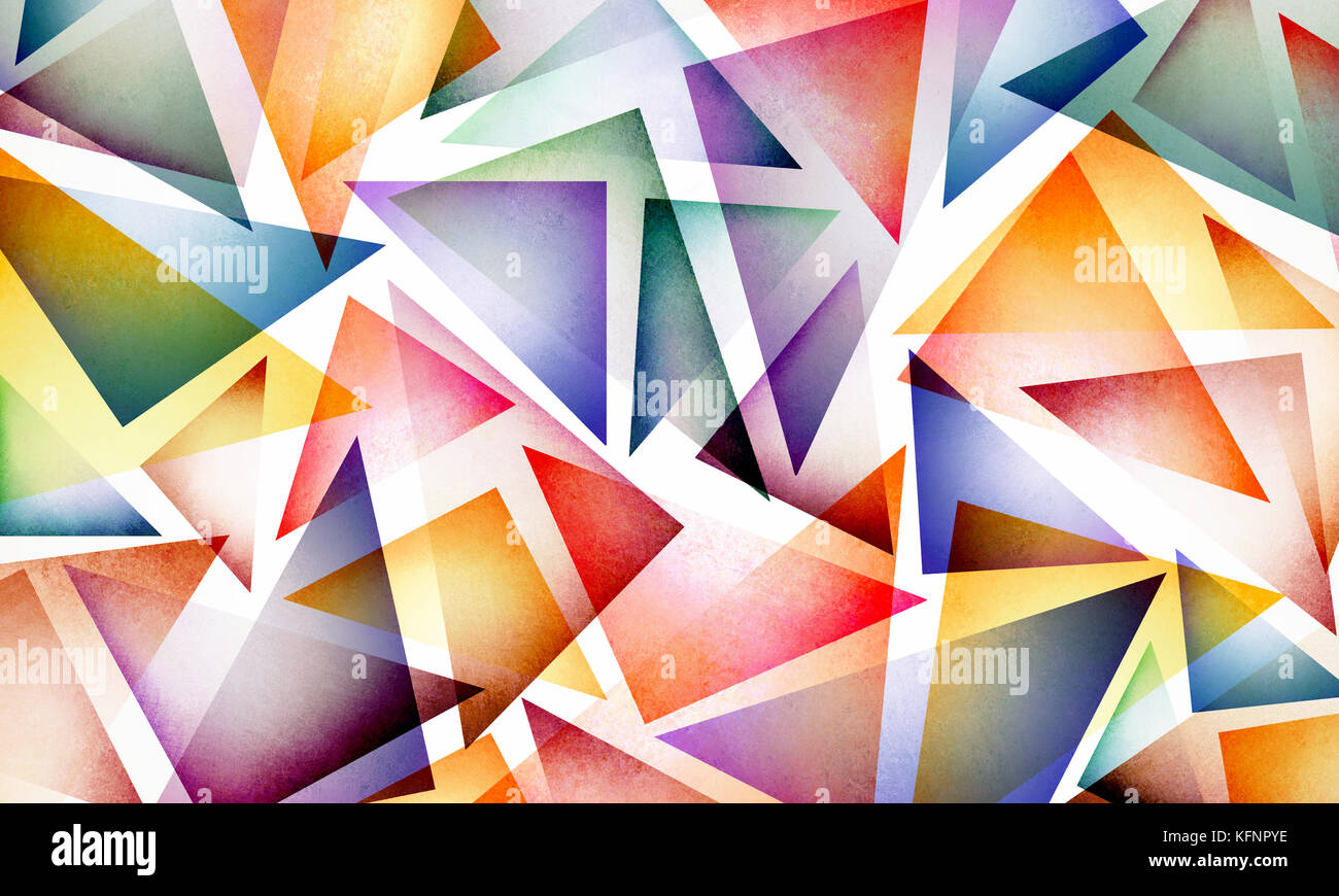 Bright Colorful Abstract Background Design With Layers Of Triangle