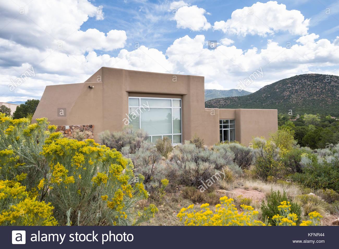 Wheelwright Museum, Santa Fe, Santa Fe County, New Mexico, USA - Stock Image