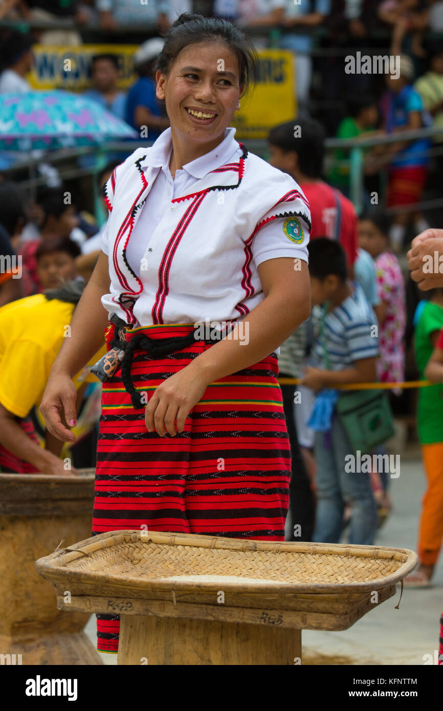 Imbayah is a cultural Festival which celebrates the age old traditions of the Ifugao Indigenous tribes of Banaue,Philippines. - Stock Image