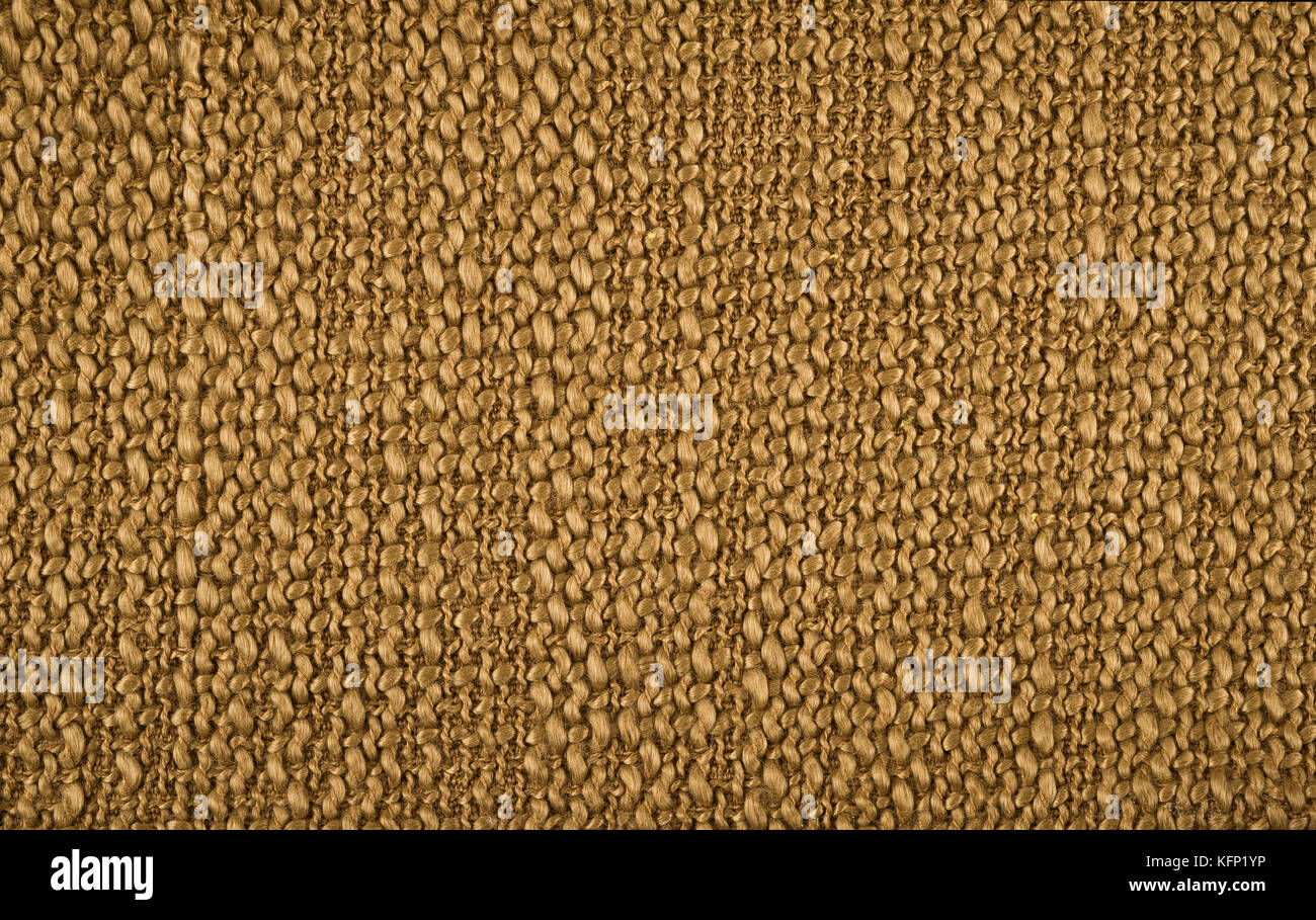 background of brown colored cloth - Stock Image