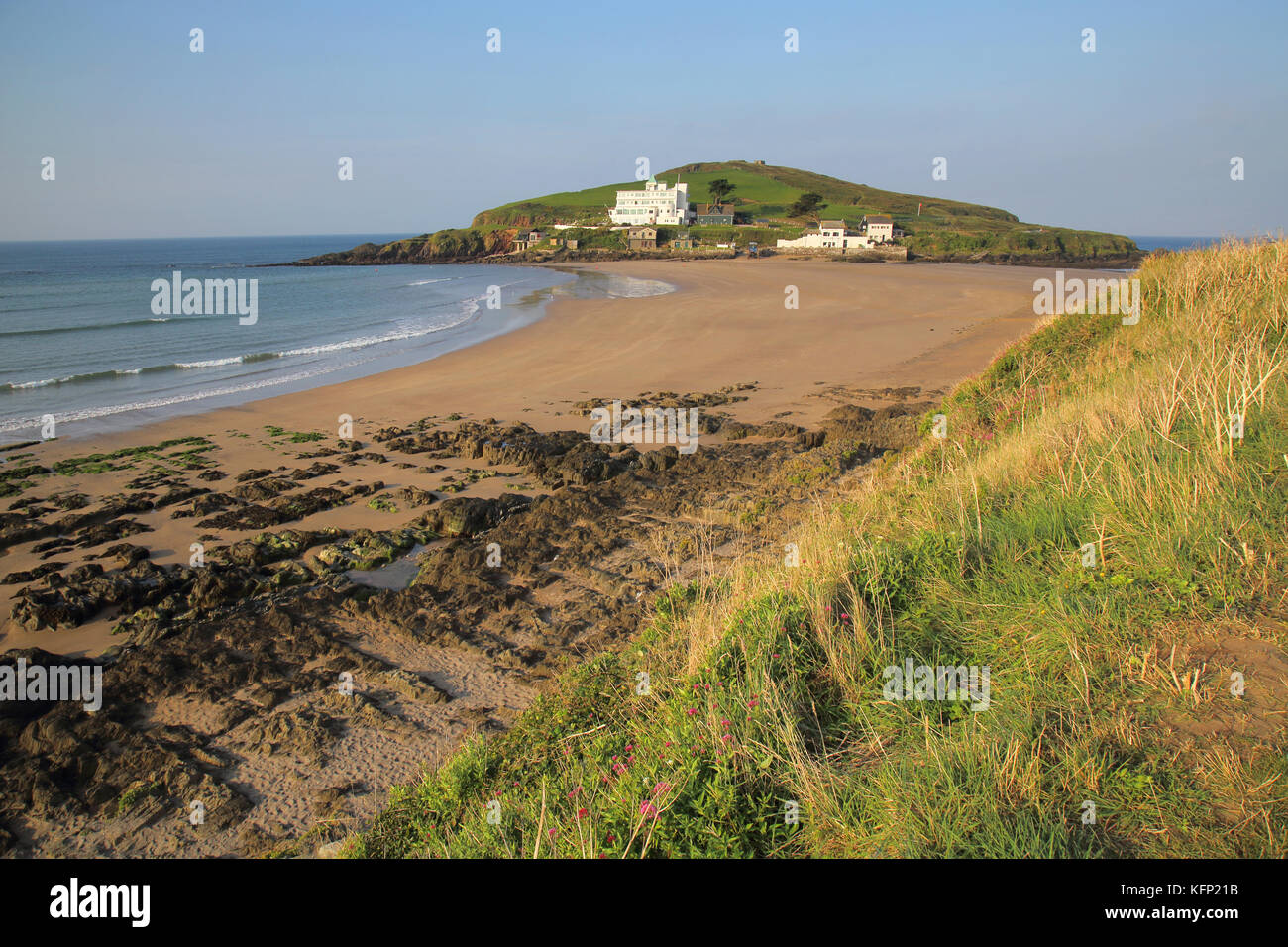 burgh island at bigbury on the south devon coast - Stock Image