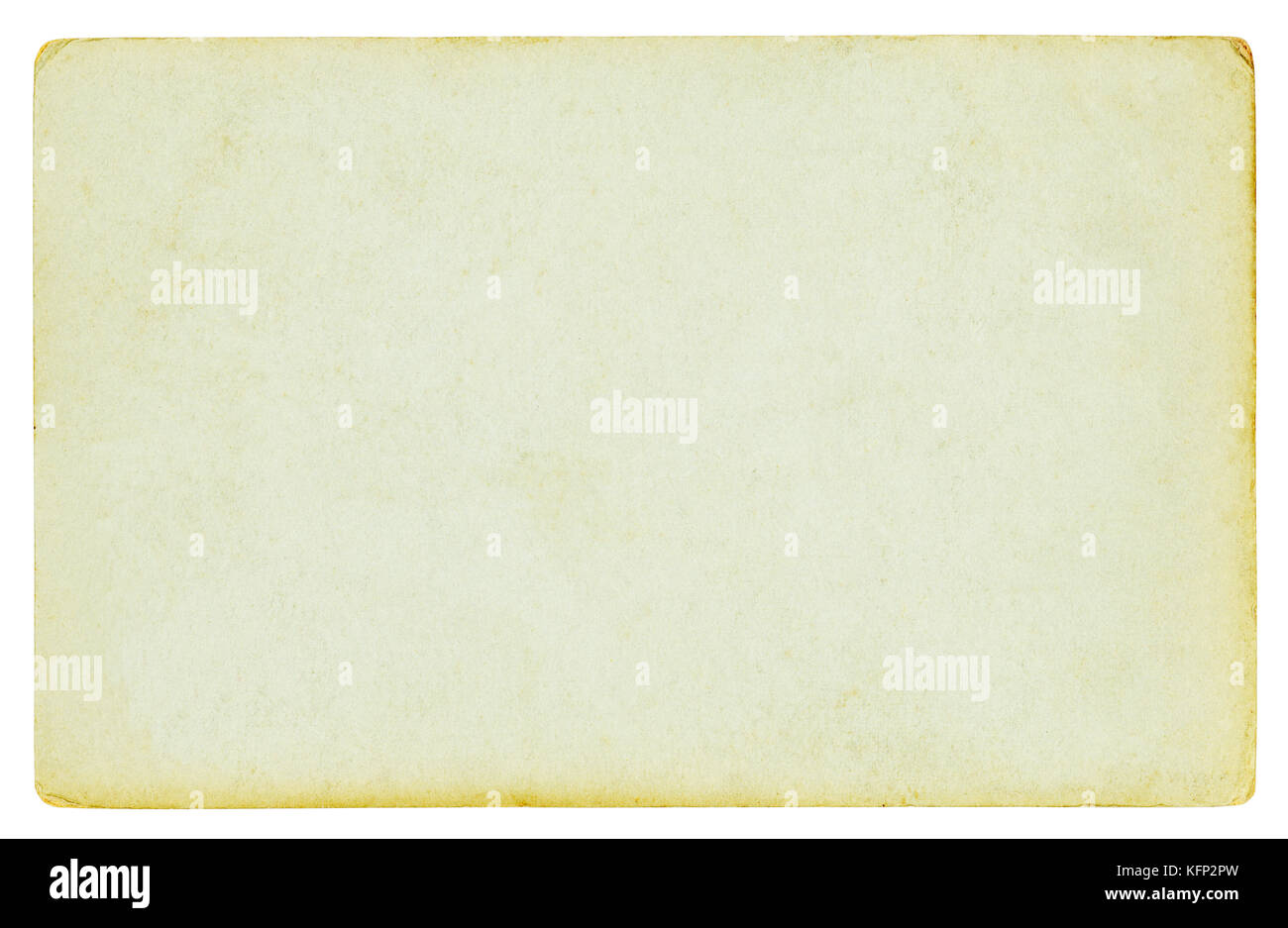 Vintage paper background isolated - clipping path included - Stock Image