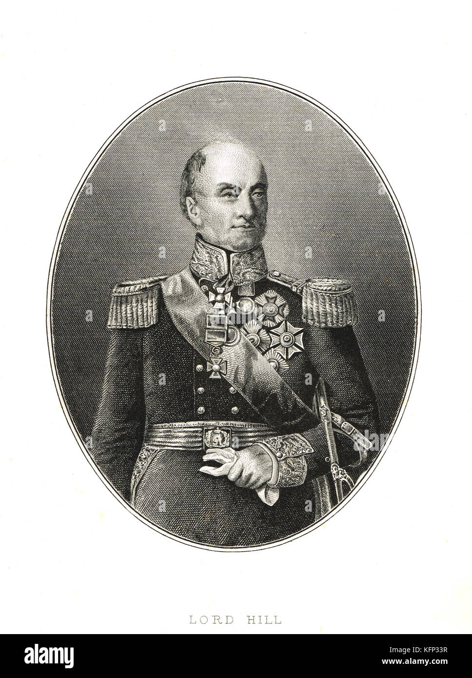 General Rowland Hill, 1st Viscount Hill, 1772–1842, Commander-in-Chief of the British Army in 1828 - Stock Image