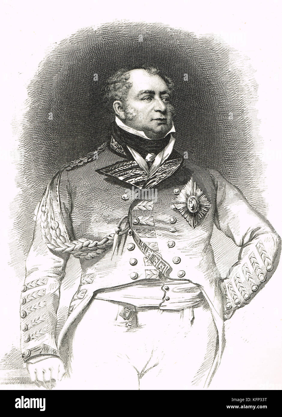 Prince Frederick, Duke of York and Albany, in 1793 - Stock Image