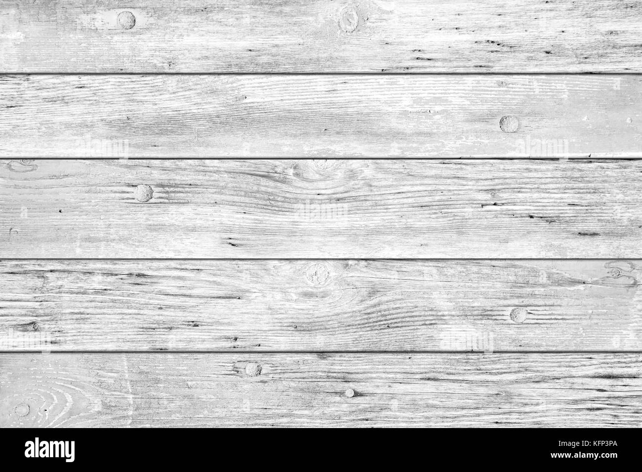 bright white wood rustic retro planks background texture - Stock Image