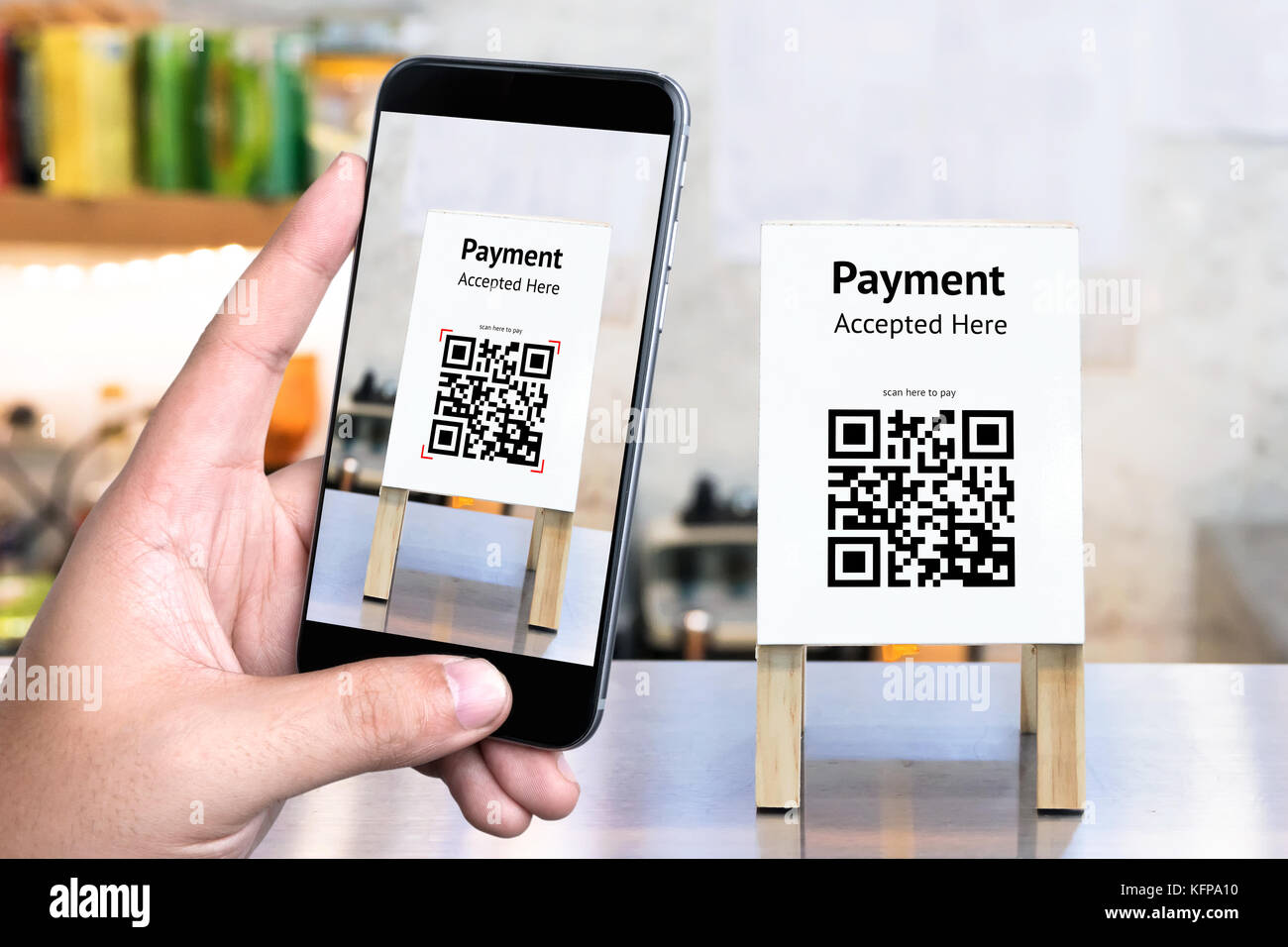 Qr Code Payment Online Shopping Cashless Technology