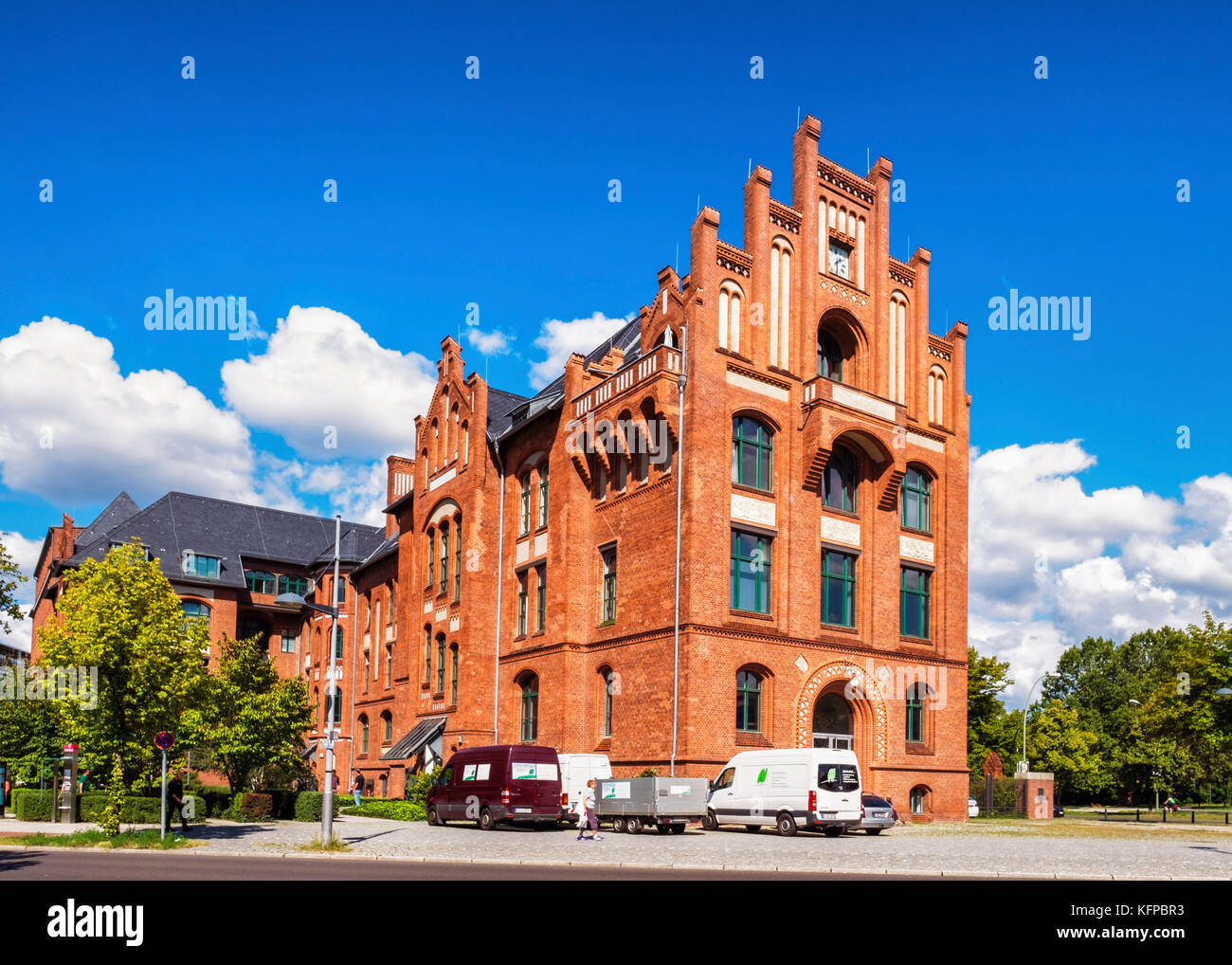 Berlin,Tegel. Part of old Borsig company buildings, manufacturers of steam engines & locomotives,brick historic - Stock Image