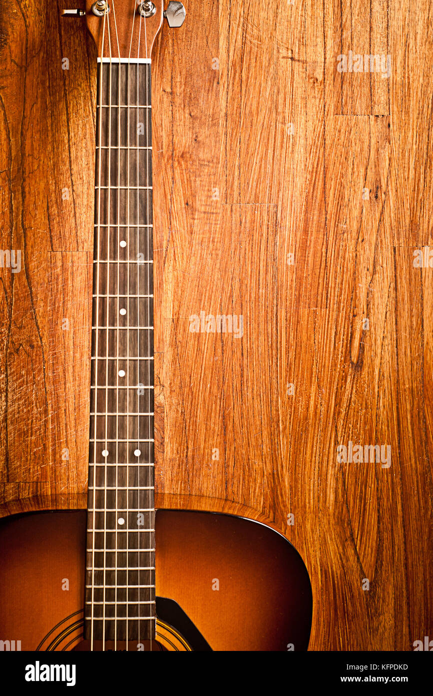classical acoustic guitar - Stock Image