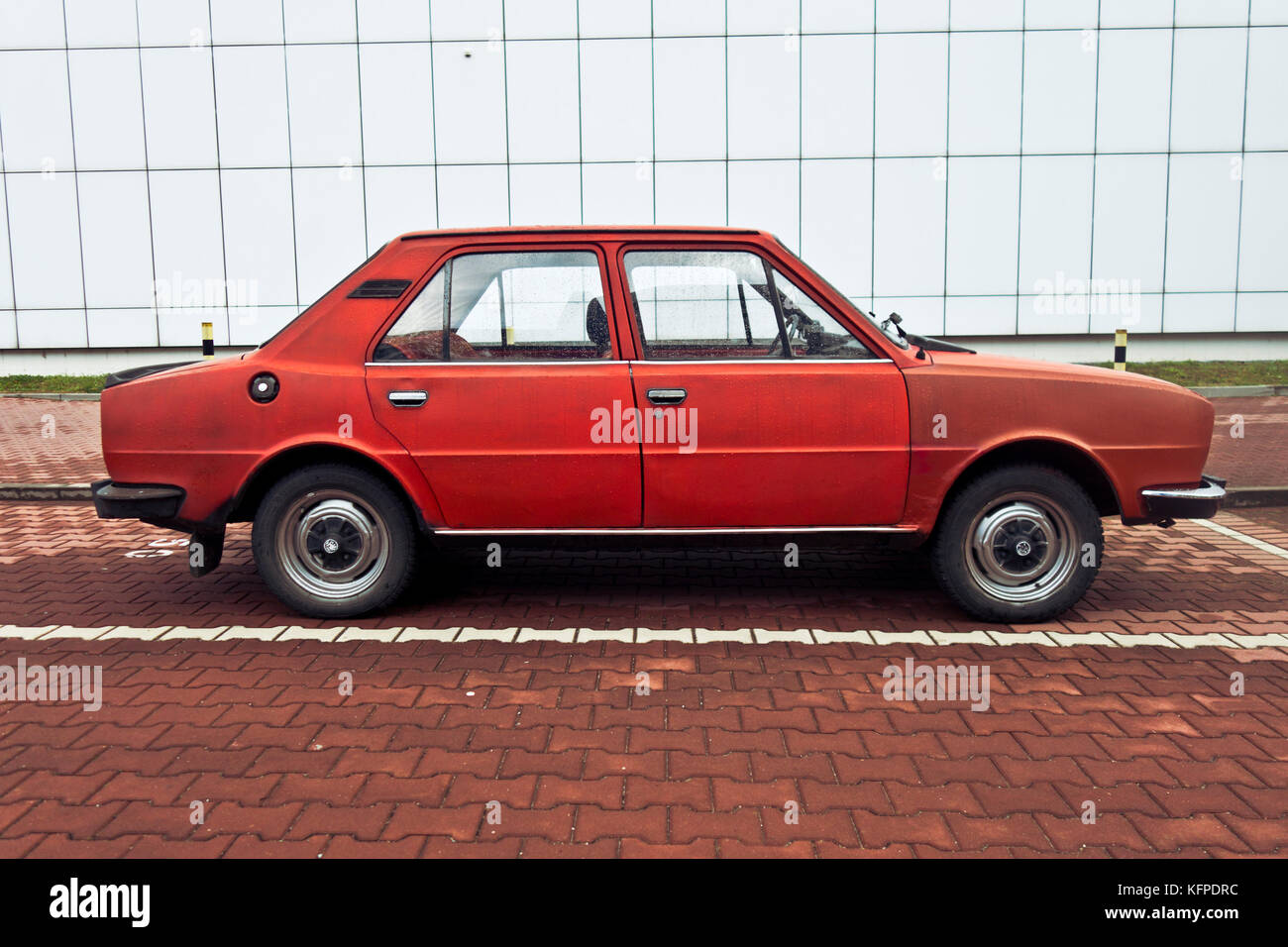 Skoda 120L car, this model was discontinued in 1990 - Stock Image